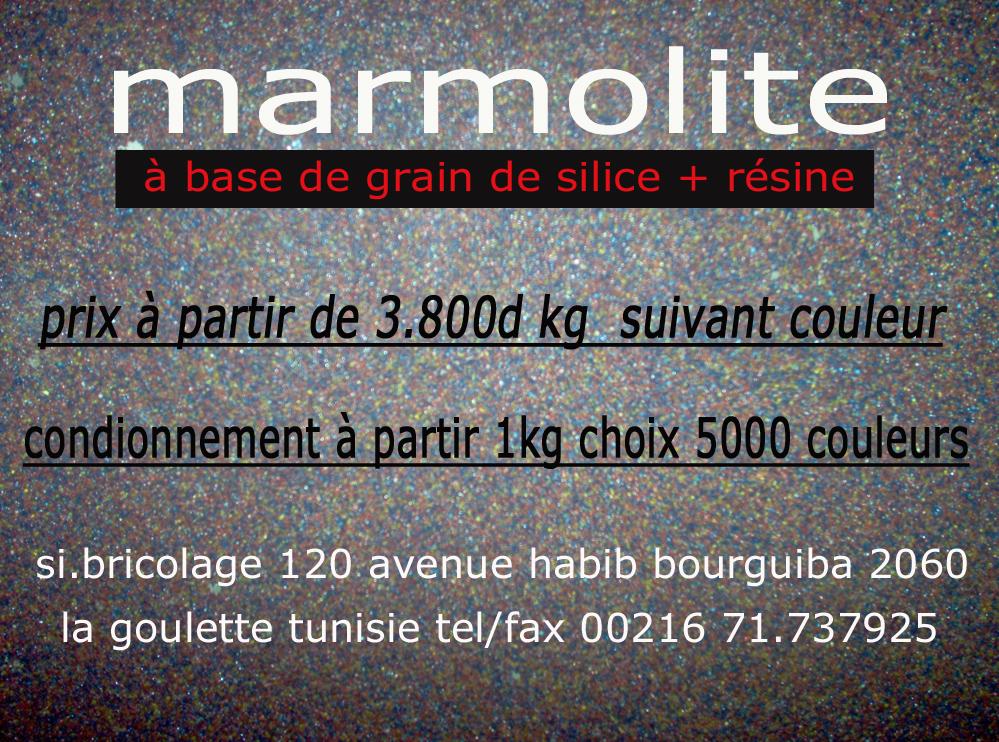 Marmolite base de grain de silice r sine - Peinture a base de resine ...