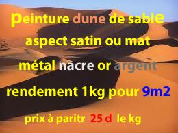 peinture dune de sable